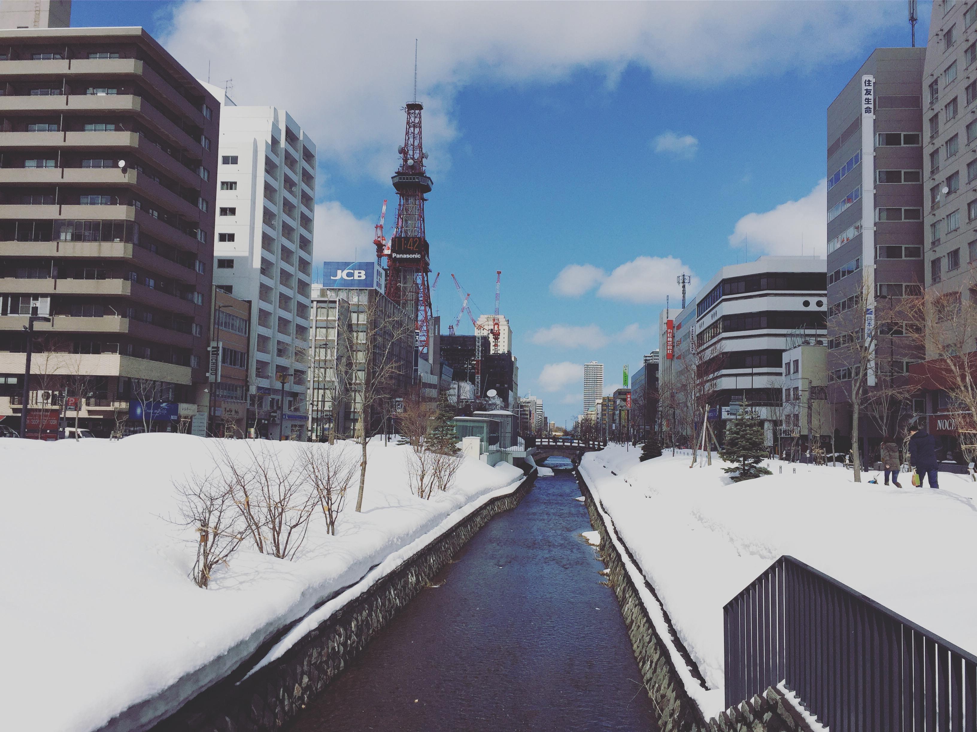 札幌ゲストハウスyuyuの近く、創成川